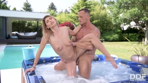 Ass pounded in jacuzzi with very hot babe