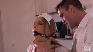Nurse Alexa Miller and Candy Alexa hardcore cumshot in clinic