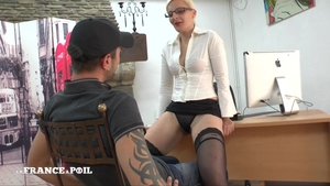 Gets ass licked starring very hot french teacher