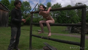 Very small tits girl bondage outdoors vintage