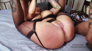Hogtied together with huge tits Annie Cruz and Angel Vain