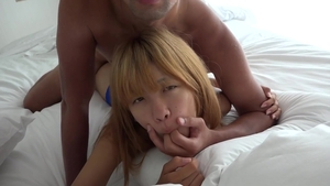 Japanese 18 yr old Hiyori Kojima POV good fuck at the beach