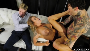 Raunchy ramming hard along with big boobs babe Luna Skye