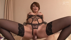 Big boobs brunette in sexy stockings POV does what shes told