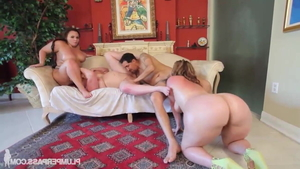 Big ass pawg Marcy Diamond brutal group sex