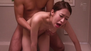Rough fucking in the company of japanese MILF