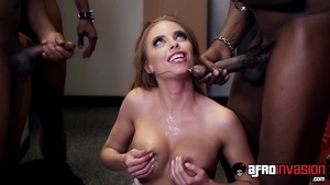 Hot Britney Amber sucking cock ass pounded
