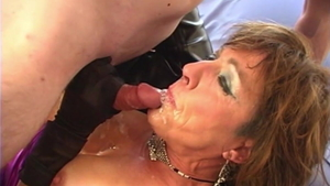 Loud sex escorted by busty granny
