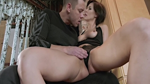 Huge boobs and horny stepmom raw ass pounded