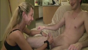 Pussy sex together with too thin deutsch blonde