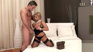 Blonde haired Lucy Love anal sex
