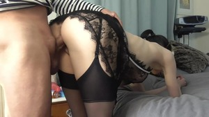 Voyeur sex toys together with big tits french maid