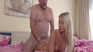 Young Cayla Lyons nailed by big cock daddy
